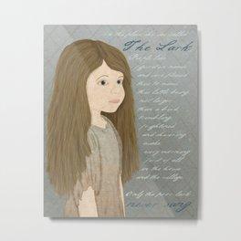 Portrait of Cosette from Les Misérables Metal Print