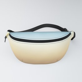 beach color gradient Fanny Pack
