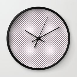 Elderberry Polka Dots Wall Clock