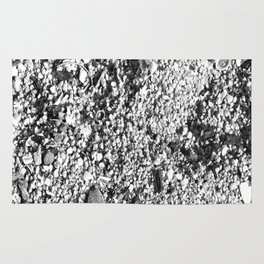 Sand and shells in black and white Rug