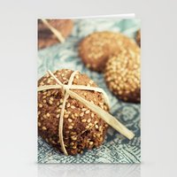 cookies Stationery Cards featuring Cookies by Leonor Saavedra