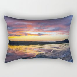Sunset on the Warwick River Rectangular Pillow