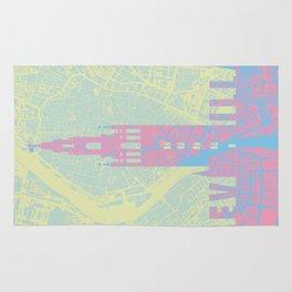Giralda Sevilla cityscape Rug