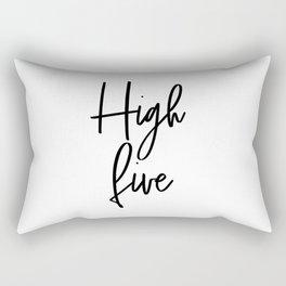 High Five, Inspirational Art, Printable Art, Scandinavian Print, Motivationa Art Rectangular Pillow