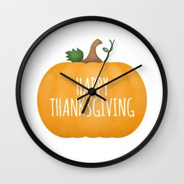 Happy Thanksgiving | Pumpkin Wall Clock