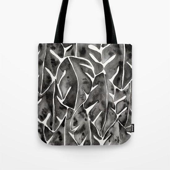 Split Leaf Philodendron - Black Tote Bag