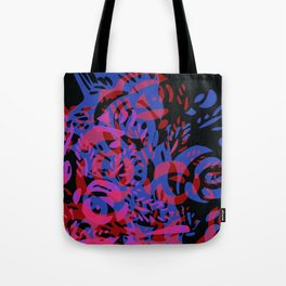floral wood with black Tote Bag