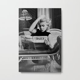 Marilyn#Monroe, Motion Picture Daily, NYC, 1955, photography of Ed Feingersh Poster Litho Vintage American Icon Metal Print