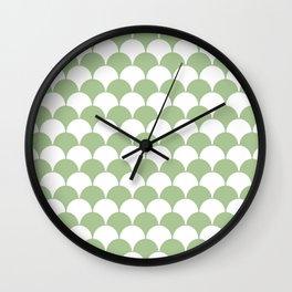 Fan Pattern 321 Sage Green Wall Clock