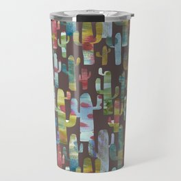 Watercolor Cacti - Browns Travel Mug