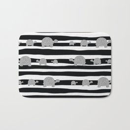 Silver turtle pattern Bath Mat