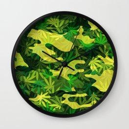 Marijuana Camo Wall Clock