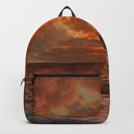 Sunrise over the Sea by Ivan Fedorovich Choultsé Backpack