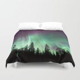 Colorful Northern Lights, Aurora Borealis Duvet Cover
