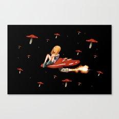 Mushroom Space Canvas Print