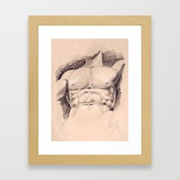 Seated Hercules (detail) Framed Art Print