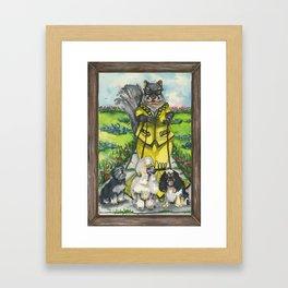 Dame Squirrel Framed Art Print