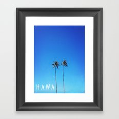 Hawaii Palm Trees Framed Art Print
