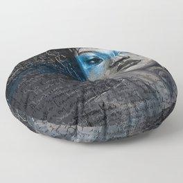 Portrait of A Sick Feeling Floor Pillow