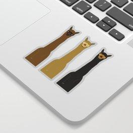 Triple LLAMAS ALPACAS CAMELS - Dark Sticker