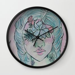 Flowered Wall Clock