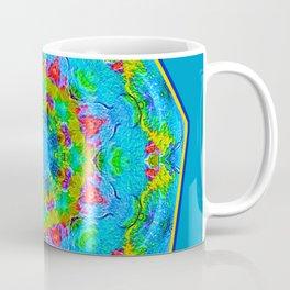 Red Flower Blue Mandala Coffee Mug