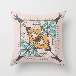 """LOOK INTO MY EYE.""  Throw Pillow"