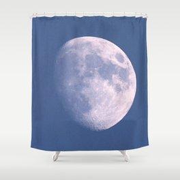 Watercolor Nightscape Waxing Gibbous Moon, Estes Park, CO Shower Curtain
