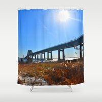 bridge Shower Curtains featuring Bridge  by MF photo works