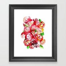 Cherry Peonies Framed Art Print