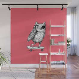 Ride On Owl_pink Wall Mural