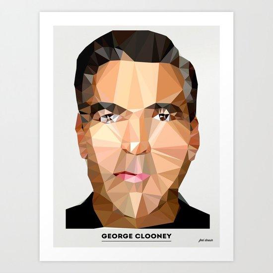 George Clooney Poly Art Print