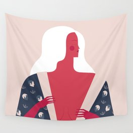 Red Lady Wall Tapestry