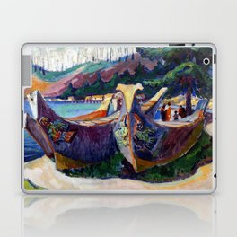 Emily Carr First Nations War Canoes in Alert Bay Laptop & iPad Skin