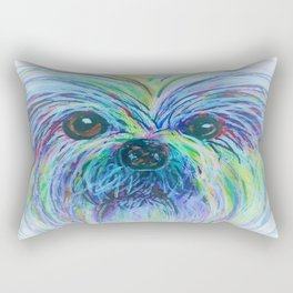 Shih Tzu Dreamy Focus Rectangular Pillow
