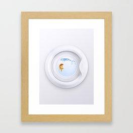 (Very) Clean Goldfish Framed Art Print