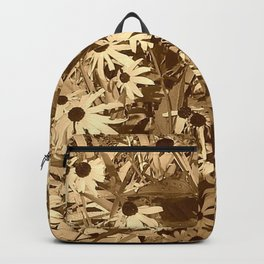 Sepia Daisies Backpack
