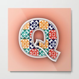 Q is for Quilt. Metal Print