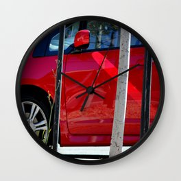 Red Hot At High Noon Wall Clock
