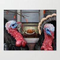 thanksgiving Canvas Prints featuring Thanksgiving by Stevie Ray Thompson