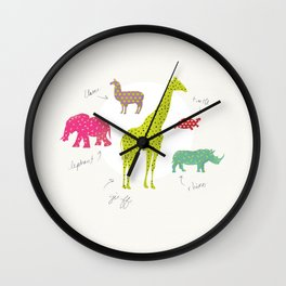 Animal Time Wall Clock