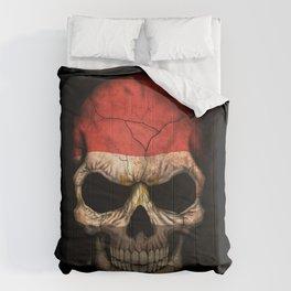 Dark Skull with Flag of Egypt Comforters