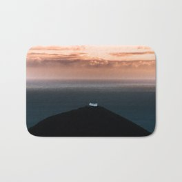 Lonely House by the Sea during Sunset - Landscape Photography Bath Mat
