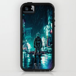 Another Rainy Night ( The Continuous Tale Of The Lost Astronauta) iPhone Case