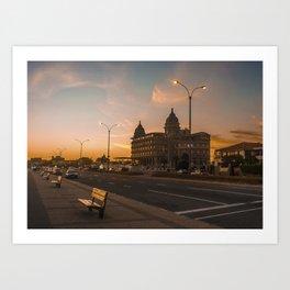 Montevideo Luxury Landmark Hotel Casino Carrasco Art Print