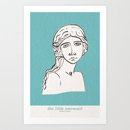 The little mermaid statue Art Print