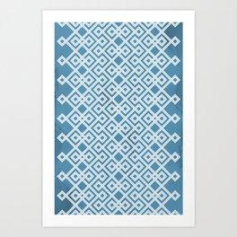 Slate Blue Geometry Art Print