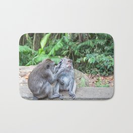 Crab-eating Macaque IV (Balinese Monkey) Bath Mat