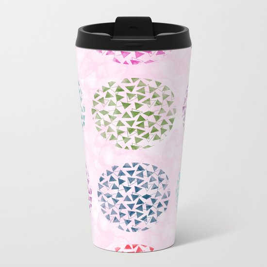 colorful geometric Metal Travel Mug