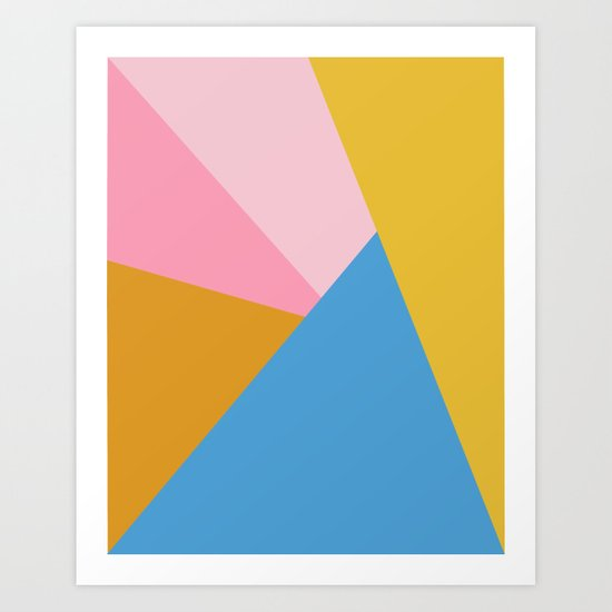 Cute Colorful Diagonal Color Blocking by junejournal